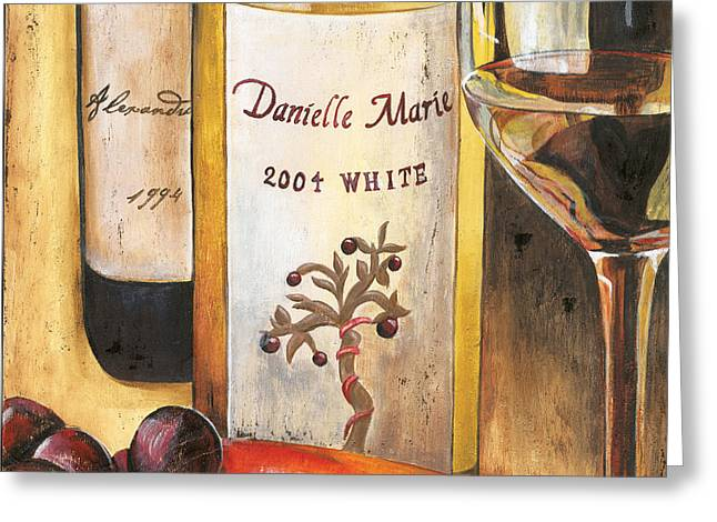 Pinot Paintings Greeting Cards - Danielle Marie 2004 Greeting Card by Debbie DeWitt