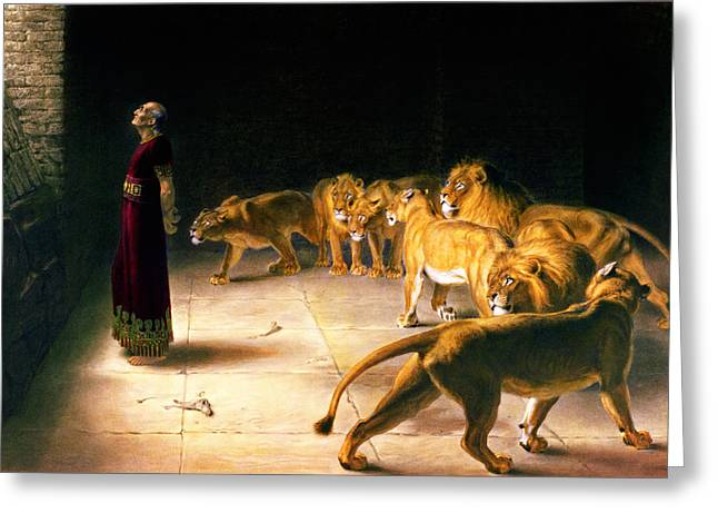 Briton Riviere Drawings Greeting Cards - Daniels Answer to the King Greeting Card by Briton Riviere