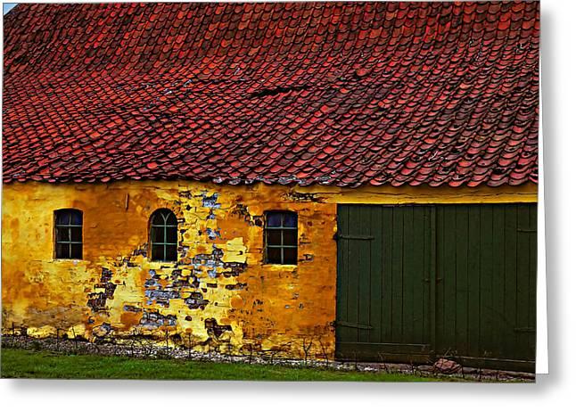 Outbuildings Greeting Cards - Danish Barn Greeting Card by Steve Harrington