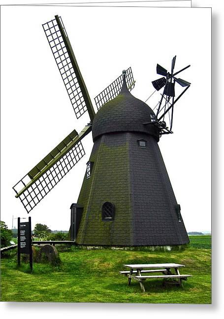 Flour Greeting Cards - Danish Flour mill Greeting Card by Konni Jensen
