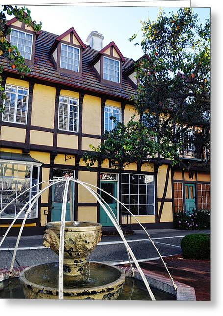 Coast Highway One Greeting Cards - Danish Village Street in Solvang California Greeting Card by Kyle Hanson