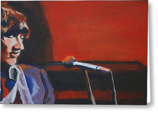 Bands On Stage Paintings Greeting Cards - Danko Greeting Card by Melissa O