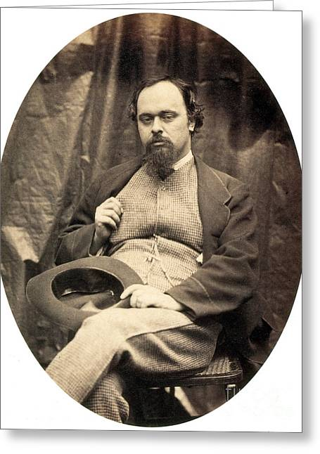 Photograph Of Painter Greeting Cards - Dante Gabriel Rossetti English Poet Greeting Card by Photo Researchers
