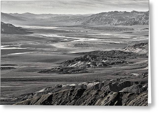 Snow Capped Greeting Cards - Dantes View #11 - Black and White Greeting Card by Stuart Litoff