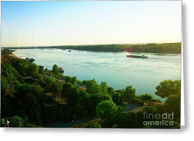 Ruse Greeting Cards - Danube Ruse City Greeting Card by Nikolay Ilchevski