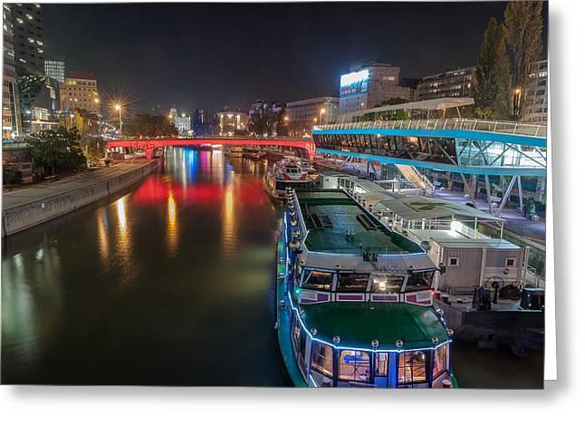 Streetlight Greeting Cards - Danube Greeting Card by Sergey Simanovsky