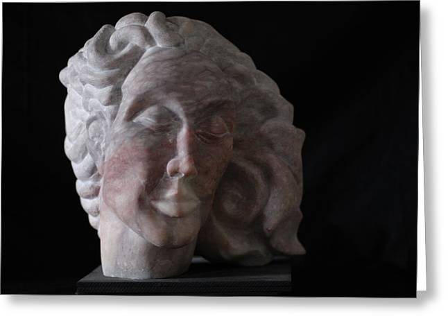 Alabaster Sculptures Greeting Cards - Daphne Greeting Card by Michael Marcotte