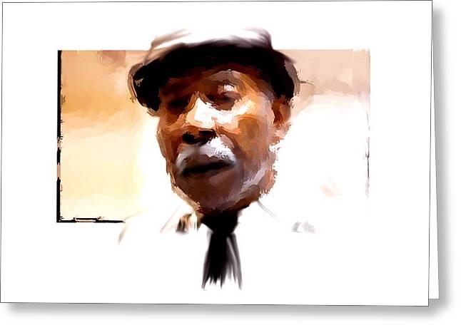 Charlotte Digital Art Greeting Cards - Dapper Gentleman Greeting Card by Morgan Carter