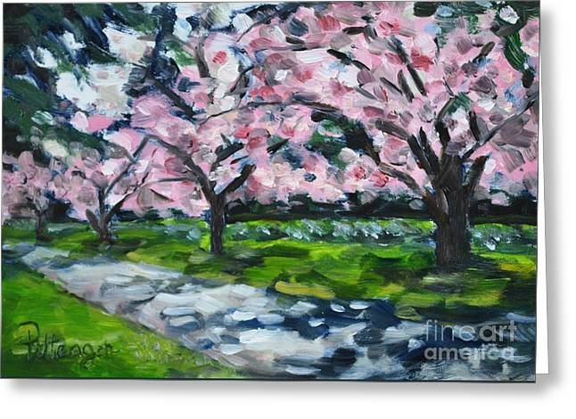 Dappled Light Greeting Cards - Dappled in the Park Greeting Card by Lori Pittenger