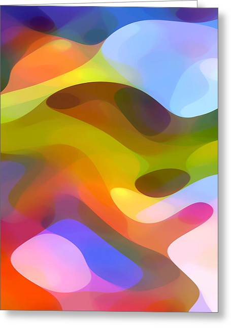 Abstract Forms Greeting Cards - Dappled Light 5 Greeting Card by Amy Vangsgard