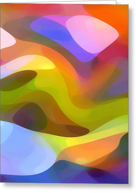 Abstract Movement Greeting Cards - Dappled Light 6 Greeting Card by Amy Vangsgard