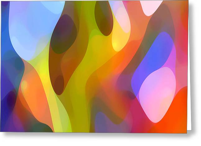 Abstract Movement Greeting Cards - Dappled Light 7 Greeting Card by Amy Vangsgard