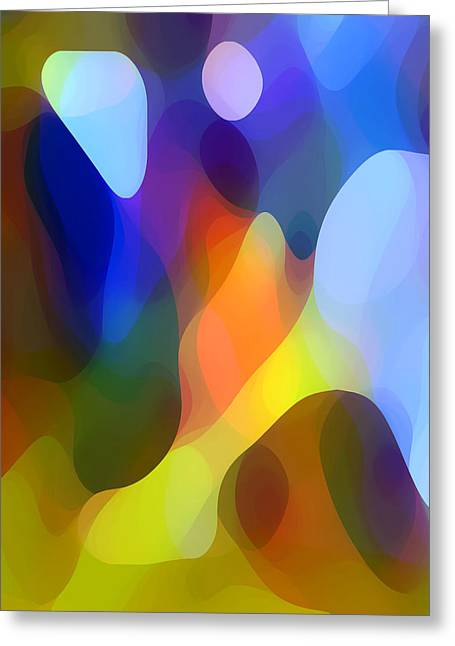 Abstract Movement Greeting Cards - Dappled Light Greeting Card by Amy Vangsgard