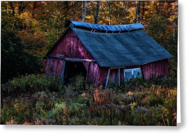 Dappled Light On The Sugar House Greeting Card by Thomas Schoeller
