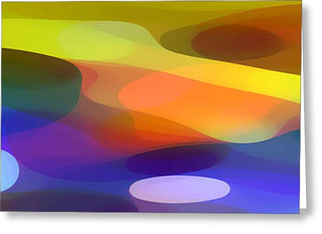 Dappled Light Panoramic 1 Greeting Card by Amy Vangsgard