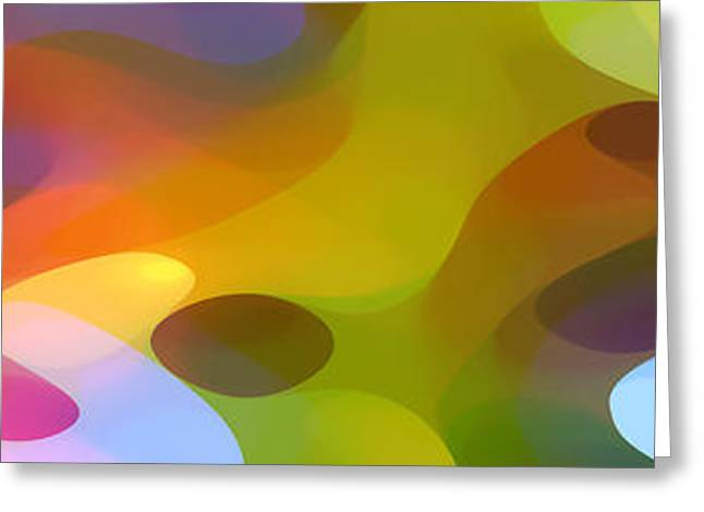 Abstractions Greeting Cards - Dappled Light Panoramic 2 Greeting Card by Amy Vangsgard
