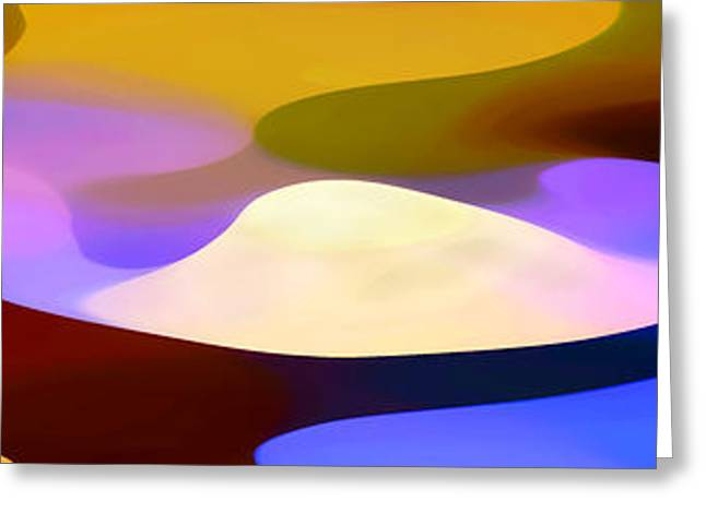Abstractions Greeting Cards - Dappled Light Panoramic 4 Greeting Card by Amy Vangsgard