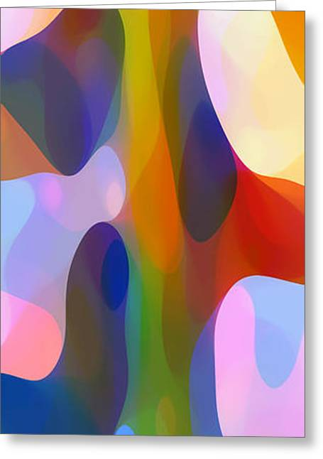Abstract Forms Greeting Cards - Dappled Light Panoramic Vertical 2 Greeting Card by Amy Vangsgard