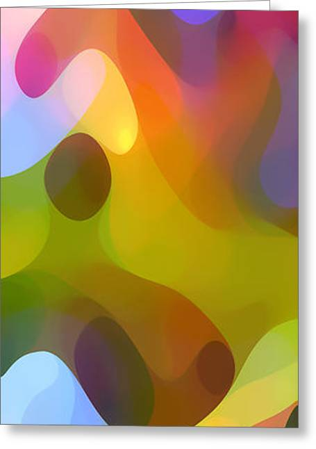 Abstract Forms Greeting Cards - Dappled Light Panoramic Vertical 3 Greeting Card by Amy Vangsgard