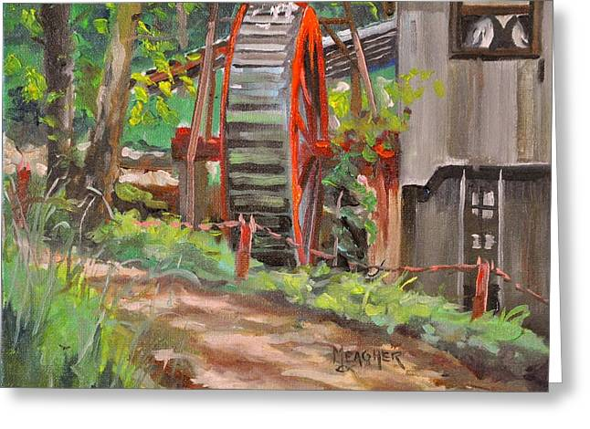 Grist Mill Paintings Greeting Cards - Dappled Road Greeting Card by Spencer Meagher