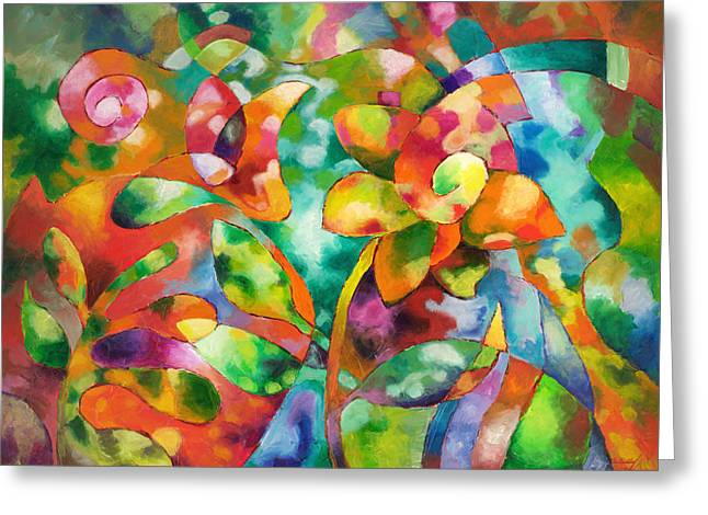 Dappled Light Greeting Cards - Dappled Greeting Card by Sally Trace