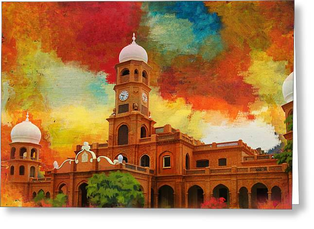 Pakistan Greeting Cards - Darbar Mahal Greeting Card by Catf