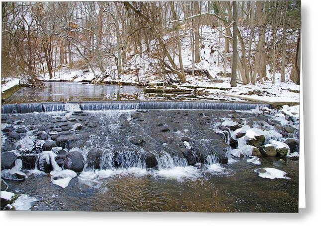 Paper Mill Greeting Cards - Darby Creek Waterfall Greeting Card by Bill Cannon