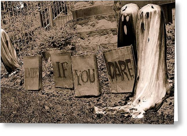 Goul Greeting Cards - Dare you Greeting Card by Tg Devore