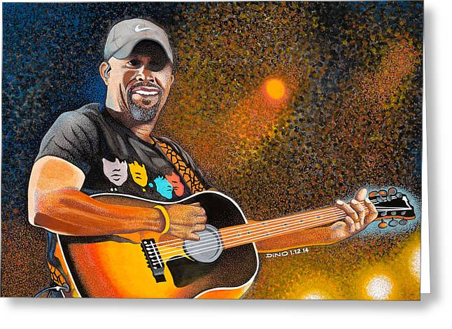 """golf Caps"" Greeting Cards - Darius in Concert Greeting Card by Dino Murphy"