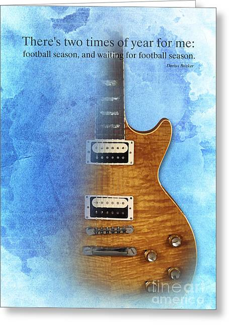 Rucker Greeting Cards - Darius Rucker Quote for Football Fans Greeting Card by Pablo Franchi