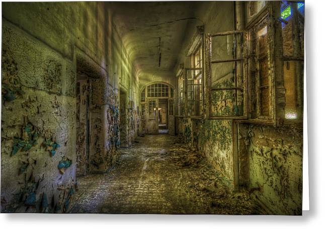 Haunted House Digital Greeting Cards - Dark and creepy Greeting Card by Nathan Wright