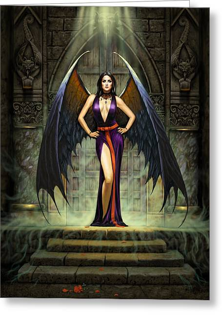 Dark Angels Greeting Cards - Dark Angel Greeting Card by Chris Heitt