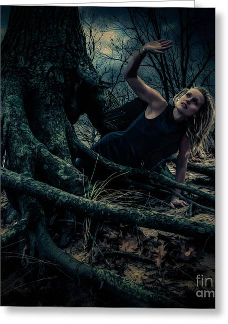 Roots And Wings Greeting Cards - Dark Angel Rises Greeting Card by Jay Luptak