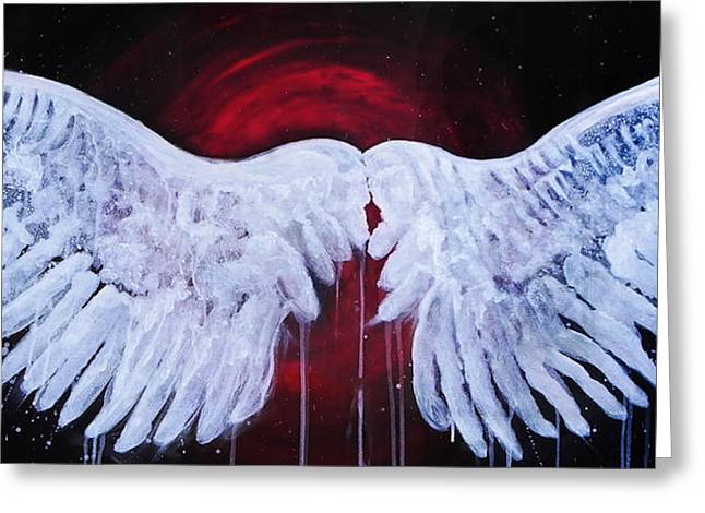 Stacey Pilkington-smith Greeting Cards - Dark Angel Greeting Card by Stacey Pilkington-Smith