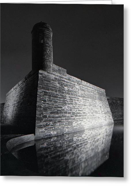 Famous Photographer Mixed Media Greeting Cards - The Castillo de San Marcos Greeting Card by Gustave Kurz