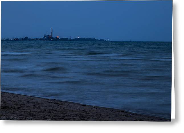 Base Path Greeting Cards - Dark Beach Greeting Card by Angus Hooper Iii