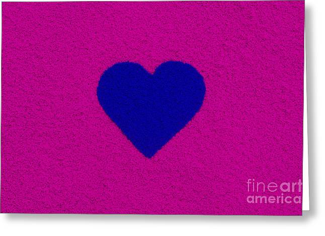 Luv Greeting Cards - Dark Blue Heart Greeting Card by Tim Gainey