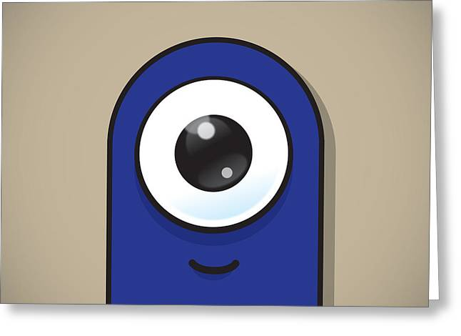 Mascots Greeting Cards - Dark Blue Greeting Card by Samuel Whitton