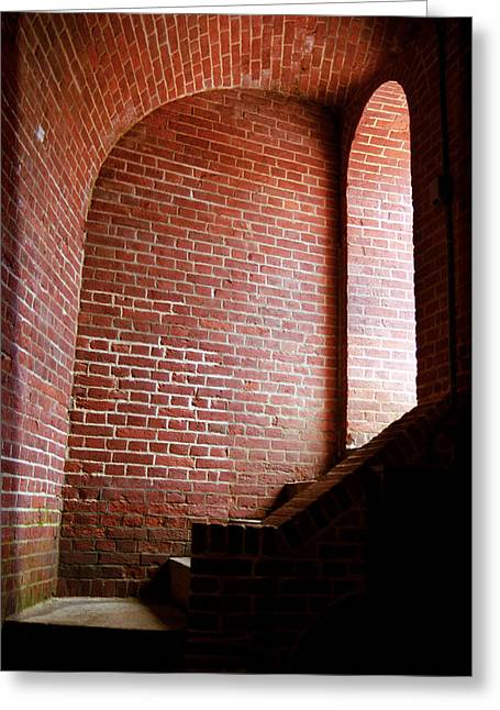 Basement Greeting Cards - Dark Brick Passageway Greeting Card by Frank Romeo