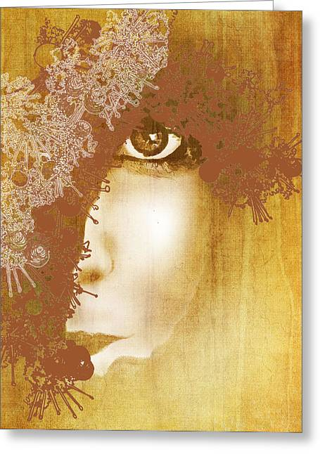 """""""song Of Songs"""" Mixed Media Greeting Cards - Dark But Lovely Greeting Card by Sarah Wathen"""