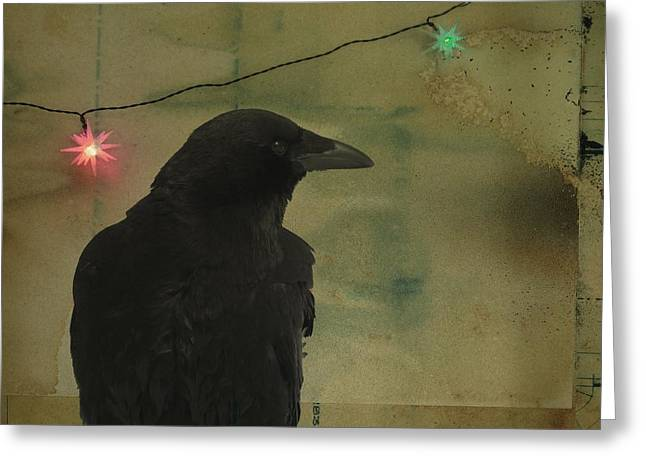 Light And Dark Greeting Cards - Dark Crow Celebration Greeting Card by Gothicolors Donna Snyder