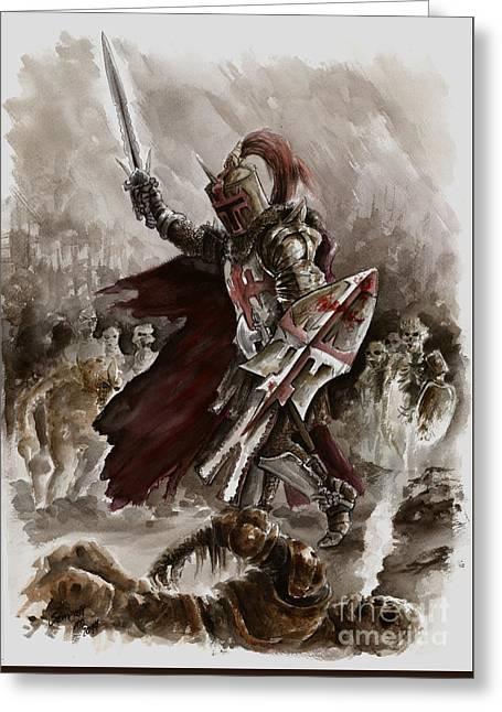 Dark Crusader Greeting Card by Mariusz Szmerdt