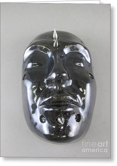 Face Sculptures Greeting Cards - Dark Dreams Greeting Card by Anthony George