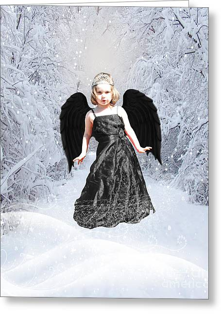 Chelsy Greeting Cards - Dark Fairy Greeting Card by ChelsyLotze International Studio