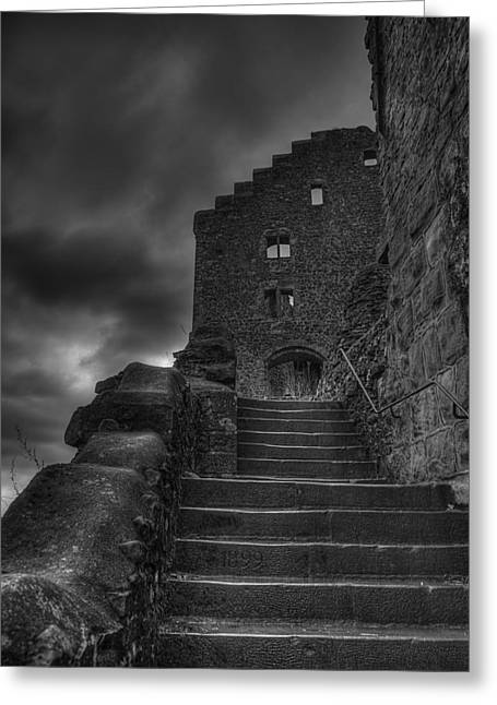 Long Ago Greeting Cards - Dark Fortress Greeting Card by Mountain Dreams