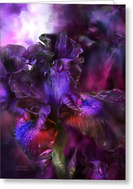 Dark Goddess Greeting Card by Carol Cavalaris