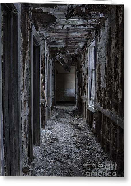 Dirt Pile Greeting Cards - Dark Halls Greeting Card by Margie Hurwich