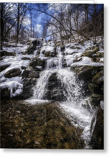 East River Drive Greeting Cards - Dark Hollow Falls Greeting Card by Joan Carroll