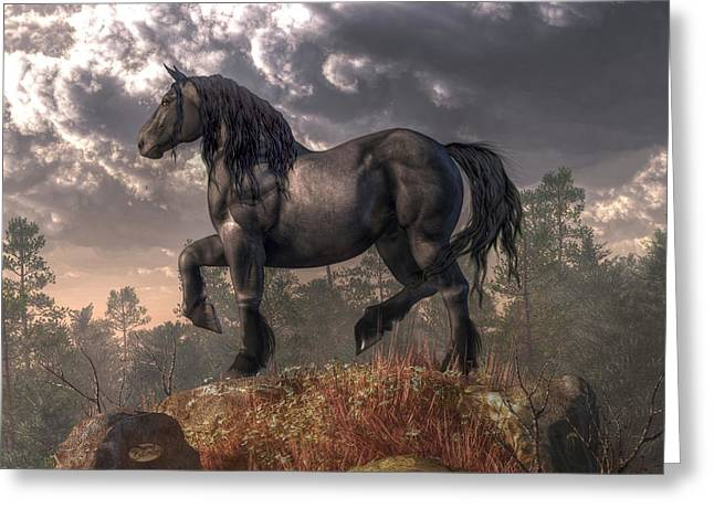 Dark Horse Greeting Card by Daniel Eskridge