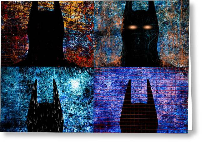 City Rain Greeting Cards - Dark Knight Number 5 Greeting Card by Bob Orsillo